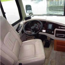 Driving a motorhome - the driver's seat.