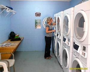 Laundry day at Yogi Bear Jellystone Park in Elberta AL