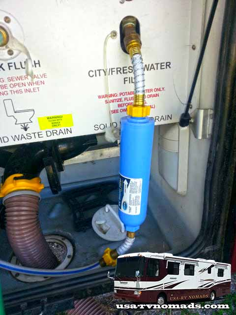 hook up water filter