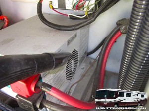 Keep the RV inverter cooling fan clean.