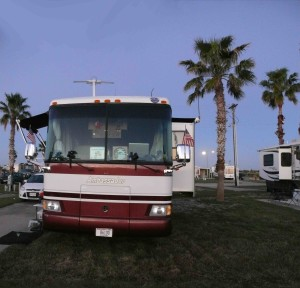 Our site at Tropic Winds RV Resort.