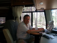 Working on the road.