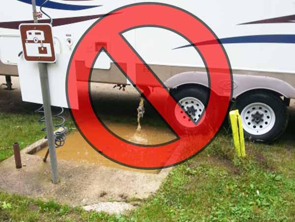 sewer hookup camping