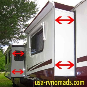 When buying an RV inspect the slides carefully.