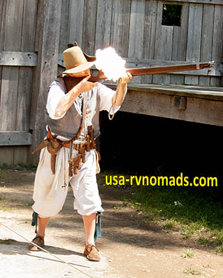 An image from the Jamestown Settlement in Williamsburg, VA.