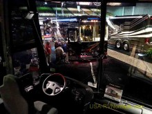 The view from a top of the line Prevost at the 2015 Florida RV SuperShow.