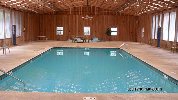 Otter Springs Park & Campground Trenton FL has a nice enclosed pool.