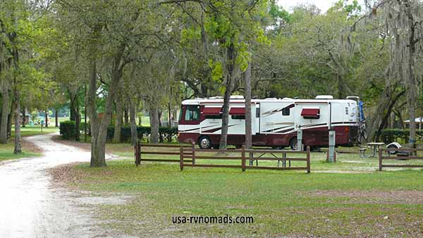 This was our site at Otter Springs Park & Campground Trenton FL.