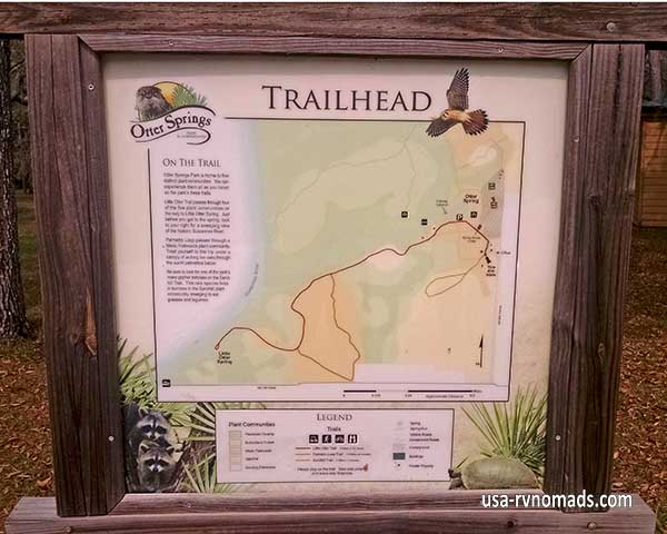 As this trail map shows, there are plenty of trails to explore.