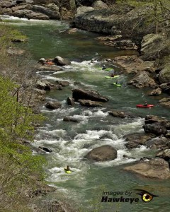 Kayakers in the Little River Canyon.