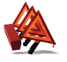 Use a safety triangle kit whenever you have a roadside emergency.