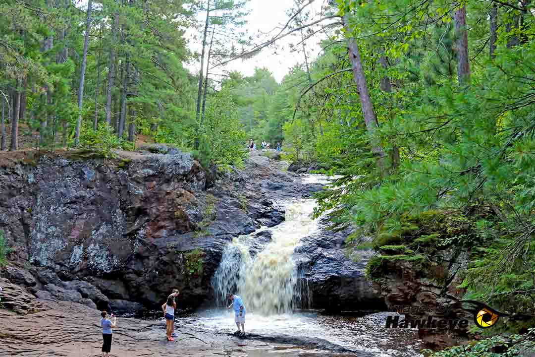 RV travel - Amnicon Falls near Superior, Wisconsin.
