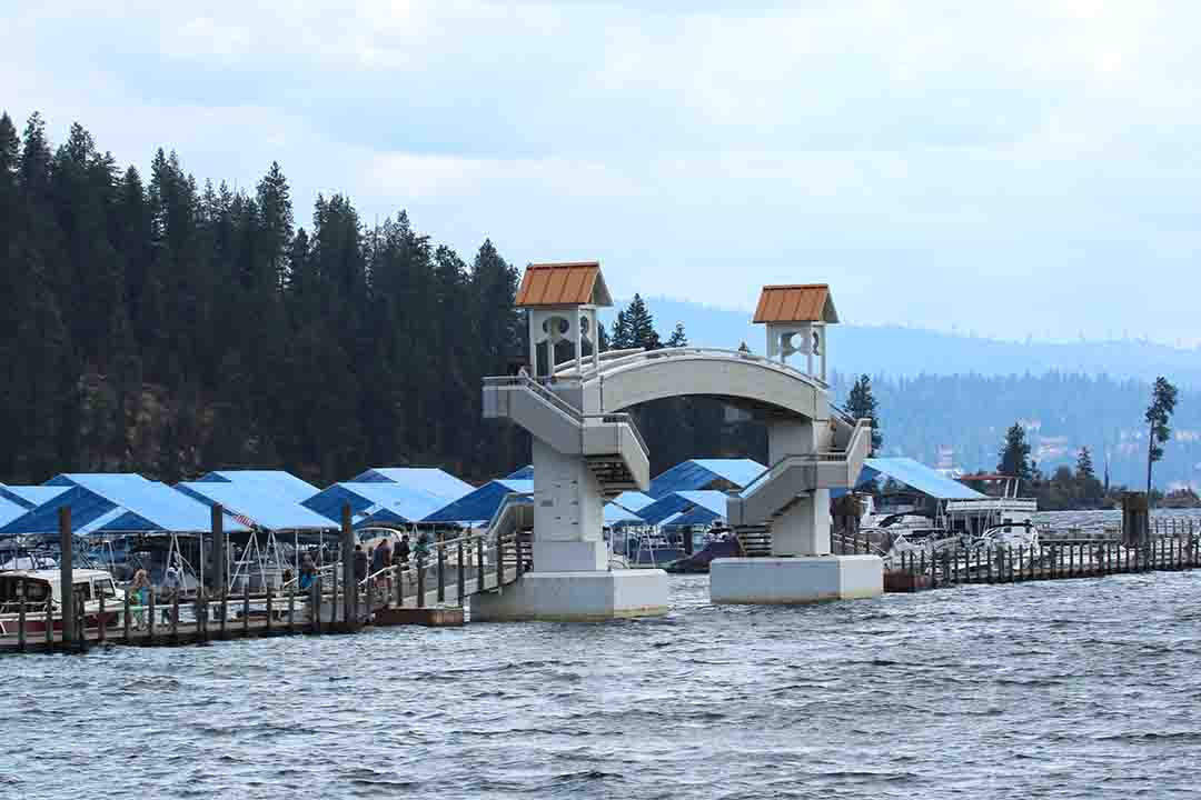Coeur d'Alene, Idaho is home to the world's largest floating dock.