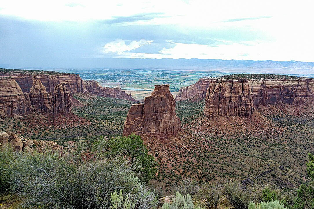 Coke ovens, fins, and canyon walls at Colorado National Monument.