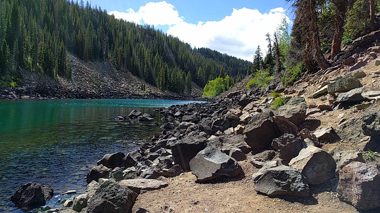 Our hike's destination, Lost Lake at Grand Mesa National Forest.
