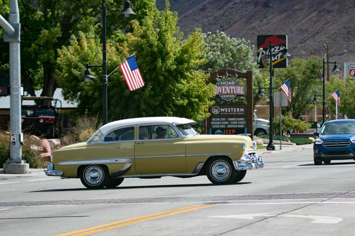 City center of Moab Utah near Arches National Park
