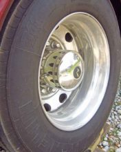 RV tire sidewall cracking.