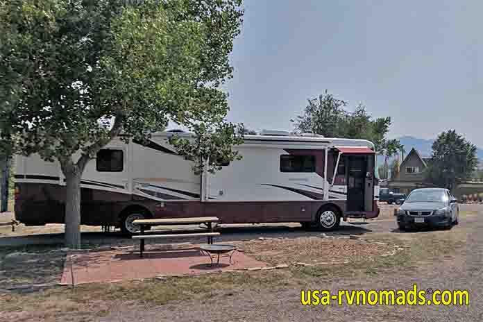 Our RV site at the Colorado Royal Gorge / Canon City KOA.