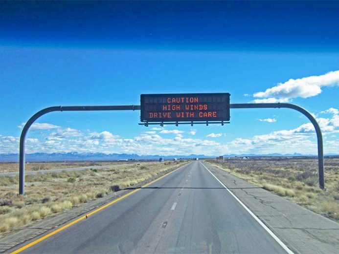 Things to consider before driving in high winds.
