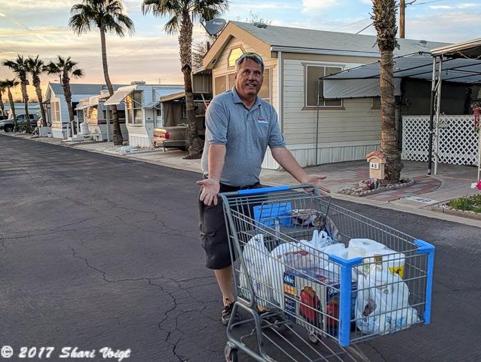Suni Sands RV Resort returns your Walmart shopping cart for you.